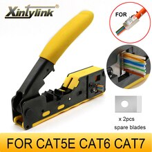 Xintylink-Alicates de prensado rj45, herramienta de prensado de red rg45, cat5, cat6, cat7, CAT8, pelacables ethernet, pinza de red, lan