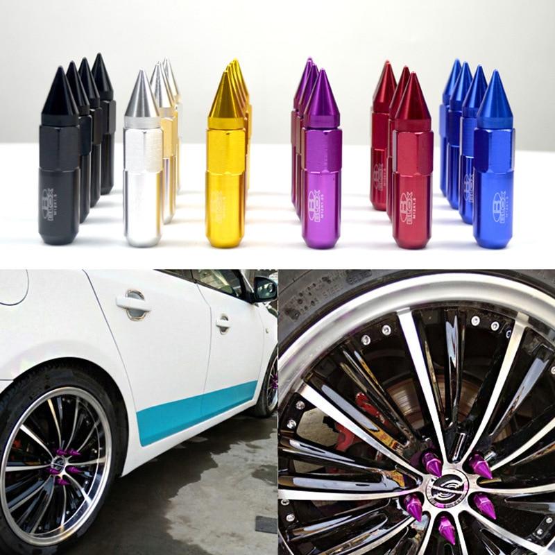 20 Pçs/set M12x1.25-M12x1.5 Parafusos Qualidade da Liga de Alumínio Da Roda de Carro Tampas de Proteção Auto Hub Parafuso Da Guarnição Exterior Decoração NOVA