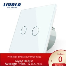 Livolo-application intelligente sans fil Wifi universelle   Commutateurs muraux wifi croisés, 2 voies, commutateur travail ZigBee, google home,echo ,alexa