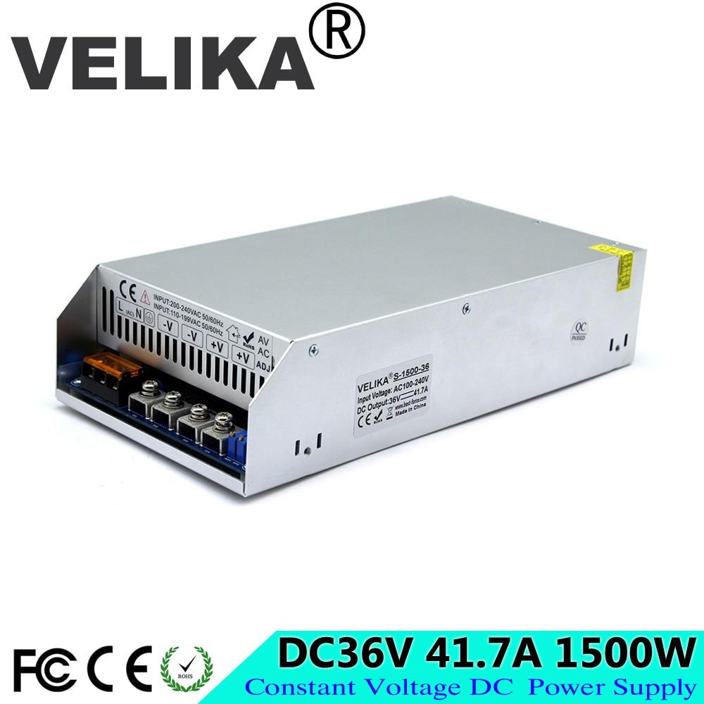 Einzigen Ausgang Schalt Netzteil 36V 41,7 A 1500W Fahrer Transformatoren AC110V 220V ZU DC36V PFC SMPS für CCTV 3D Drucker CNC