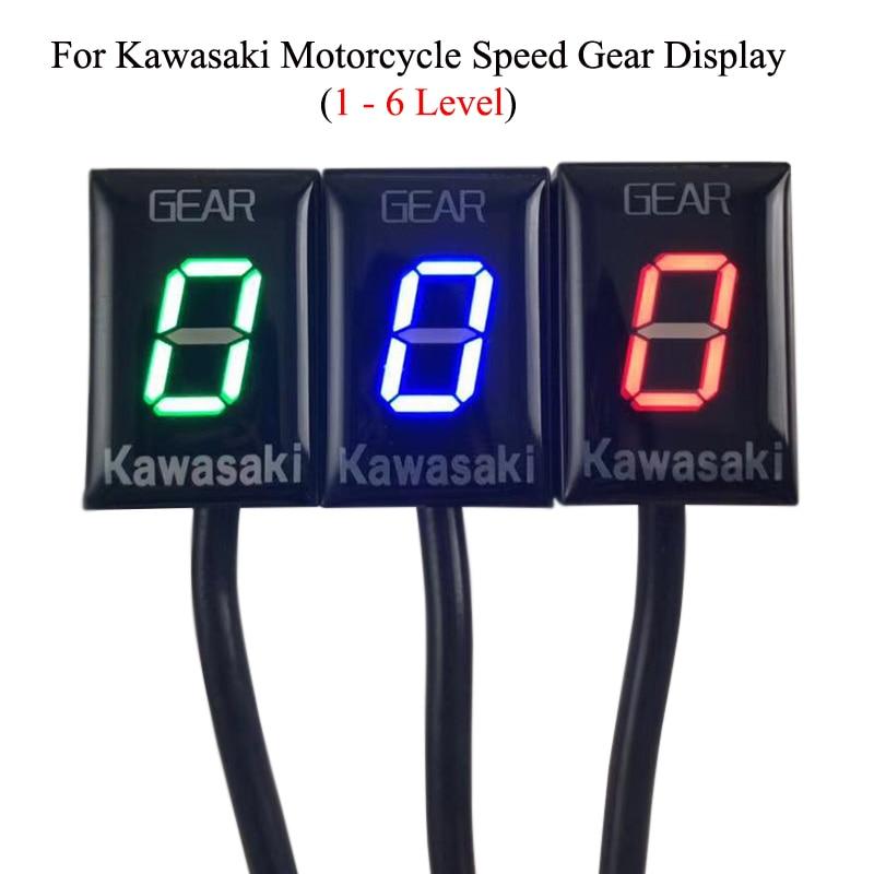 Para Kawasaki ER6N ER6F Ninja650 250 Versys 1000 Z800 Z900 Z750 Z1000, engranaje de velocidad de 1-6 EFI, engranaje de aluminio ECU