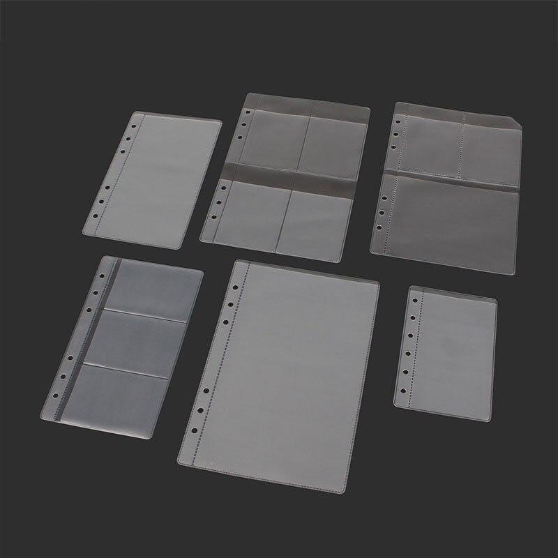 10PCS A5 / A6 / B7 Dicke 6-loch transparent informationen Taschen lose-blatt Lagerung Tasche karte tasche DIY Lose-blatt Zubehör Beutel