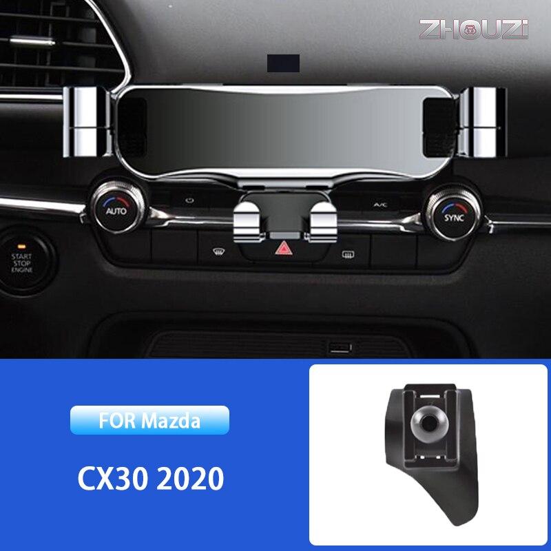 Автомобильный держатель для вентиляционных отверстий, GPS-навигатор, Гравитационный Кронштейн для Mazda CX30 CX 30 2020, специальные автомобильные а...