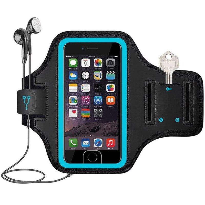 Fabricante brazalete reflejo nocturno deportes correr brazo cubierta teléfono móvil banda de brazo iPhone6/7/8 Plus universal