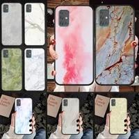 marble stone phone case for samsung s 6 7 8 9 10 10e 20 21 30 edge plus lite ultra 5g funda cover