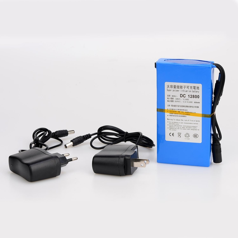 MasterFire 20 juego/lote 12V CC 8000MAH Li-ion Super recargable batería de respaldo de iones de litio paquete de baterías para cámara CCTV