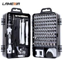 LAMEZIA 110 In 1 Mini Precision Screwdriver Set Torx Hex Screw Slotted Phillips For Mobile Phone Computer Home Repair Hand Tools