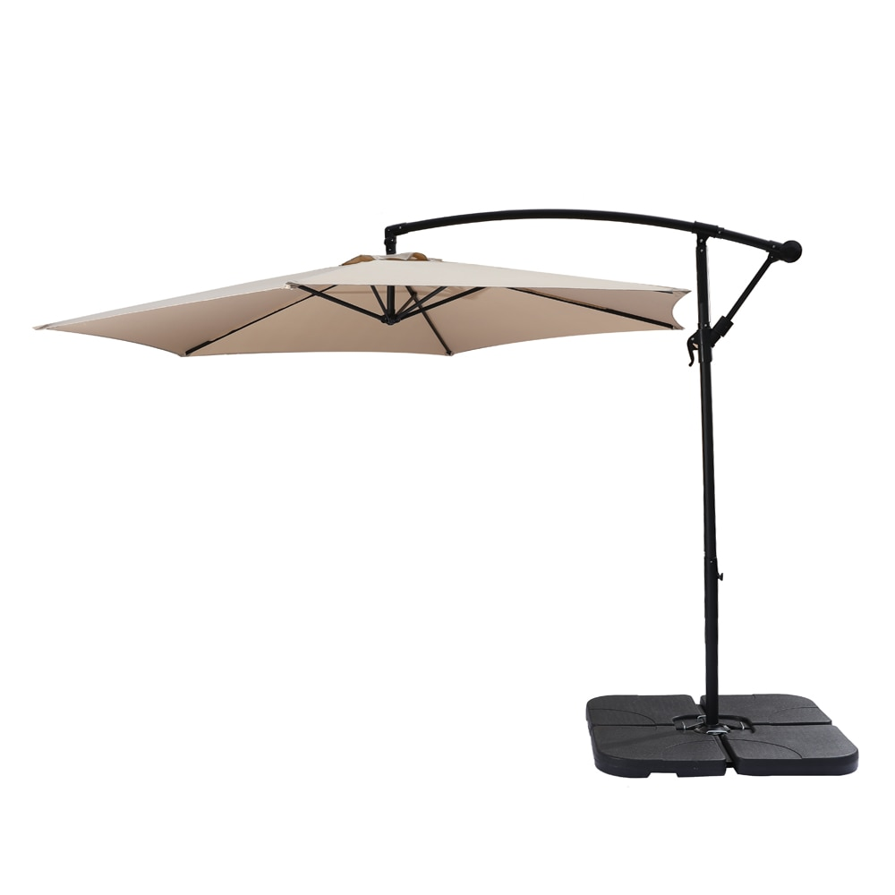 10FT Outdoor Patio Banana Offset Umbrella Waterproof Folding Sunshade 300x200x245CM Wine Red/Top Color Easy to Use[US-Stock]