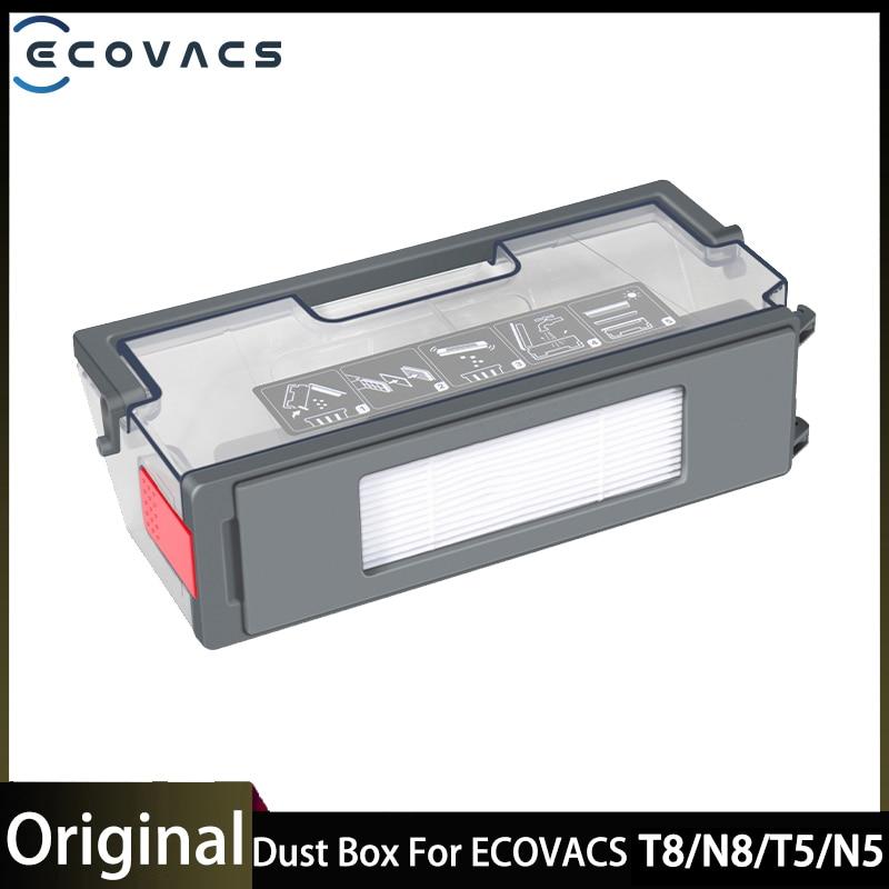 صندوق الغبار ل ECOVACS Deebot T8/N8/T5/N5 مكنسة كهربائية المطلق مرفق محول روبوت اكسسوارات