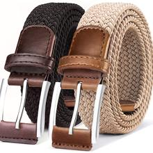 Belt for Men 2Units,Woven Stretch Braided Belt Gift-boxed Golf Casual Pants Jeans Belts,Width 1 3/8&
