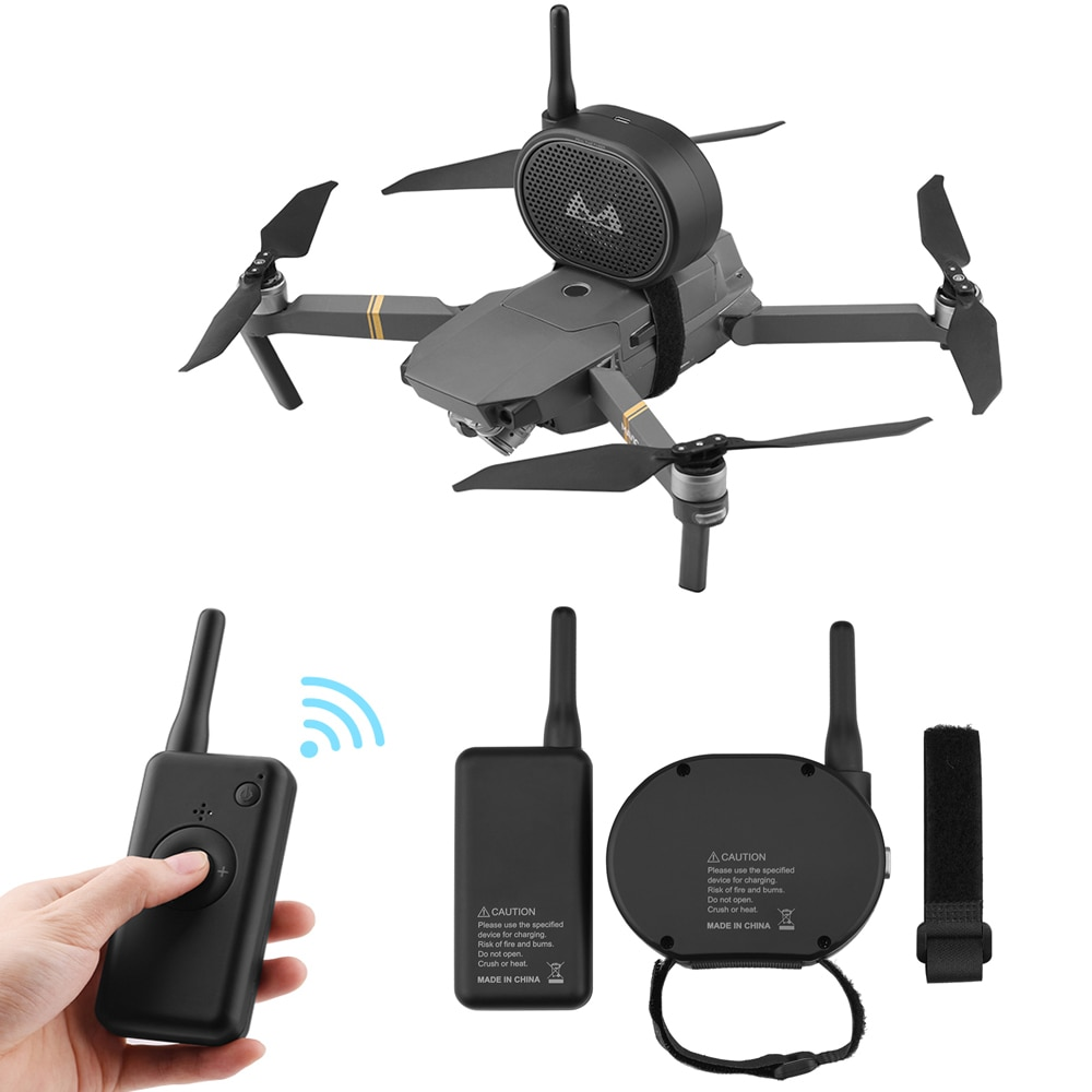 1 комплект динамик для дрона Мегафон камеры громкий DJI Mavic mini/2/pro/air Phantom 3/4 4k