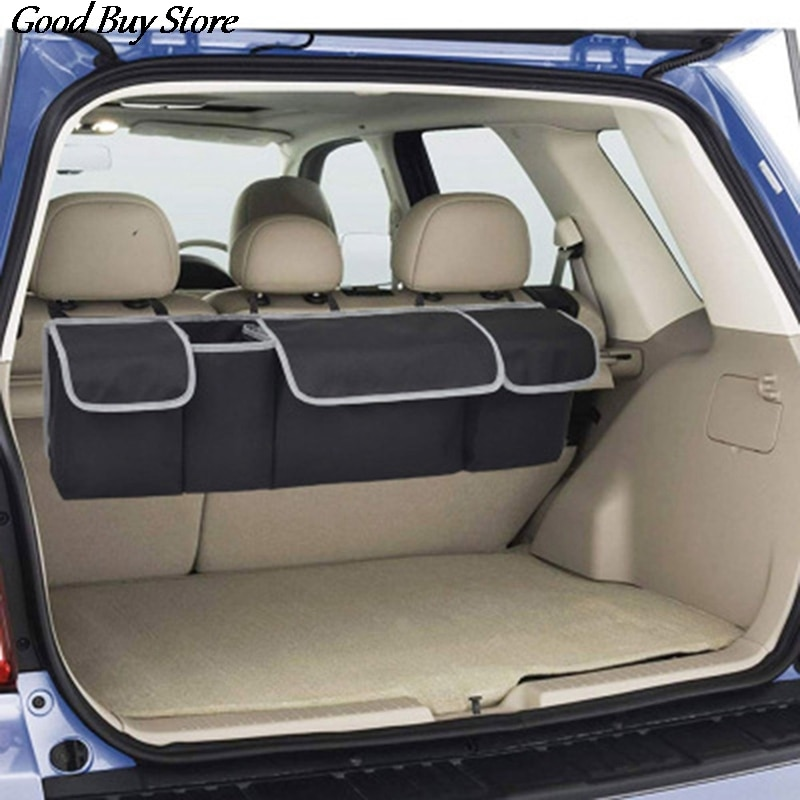 durable car trunk organizer stowing tidying auto storage box car trunk bag oxford cloth interior accessories Car Seat Hanging Storage Container Luggage Pocket Organizer Bag Trunk Interior Seat Back Protector Box Stowing Tidying Holder
