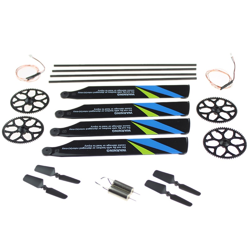 for Wltoys V911S RC Helicopter Tool Kit Bag Gears Main Rotor Blades Tail Boom Motor Wire Parts for Wltoys V911S RC Helicopter enlarge