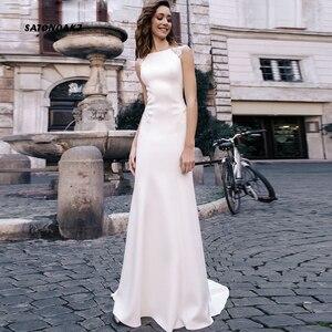 Simples Sexy Mermaid Wedding Dress for Women Vestido De Noiva Backless Princesa Bridal Gown Robe Mariage Online Shop Undefined