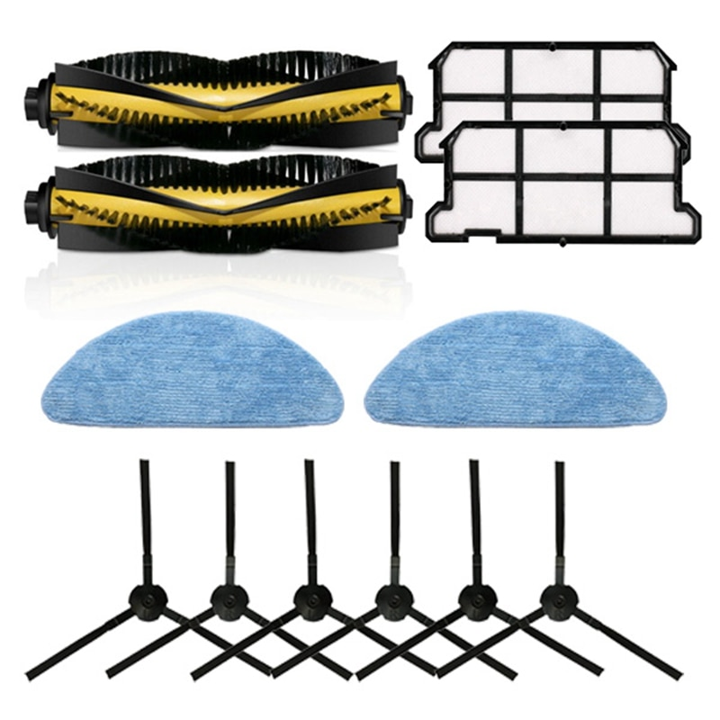 TOP!-for Chuwi Ilife V7 V7S Plus Robotic Vacuum Cleaner Parts Kit Main Brush+Side Brush+Filter+Mop Cloth Accessories