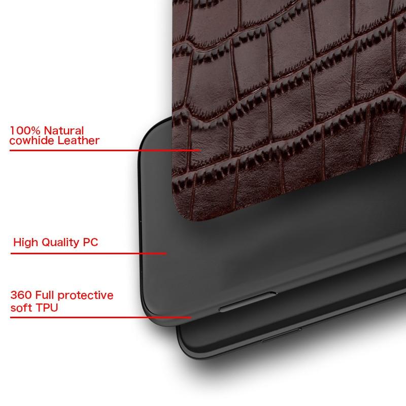 Genuine Leather Case for iPhone 12 Pro Max 12 Mini 11 Pro Max X XR XS max 5 5s 6S 6 7 8 Plus SE 2020 360 Full protective Cover