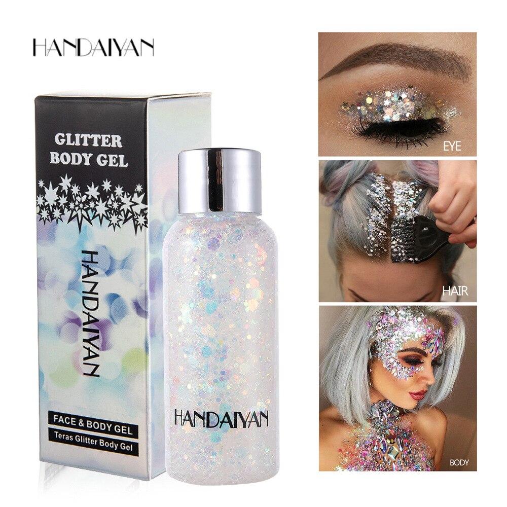 Diamond Sequins Eyeshadow Shimmer Glitter Nail Hair Body Face Glitter Gel Art Mermaid Flash Cream Se