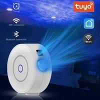 Projecteur detoiles intelligent Tuya  WiFi  Laser  ciel etoile  ondulation  application coloree  controle sans fil Alexa