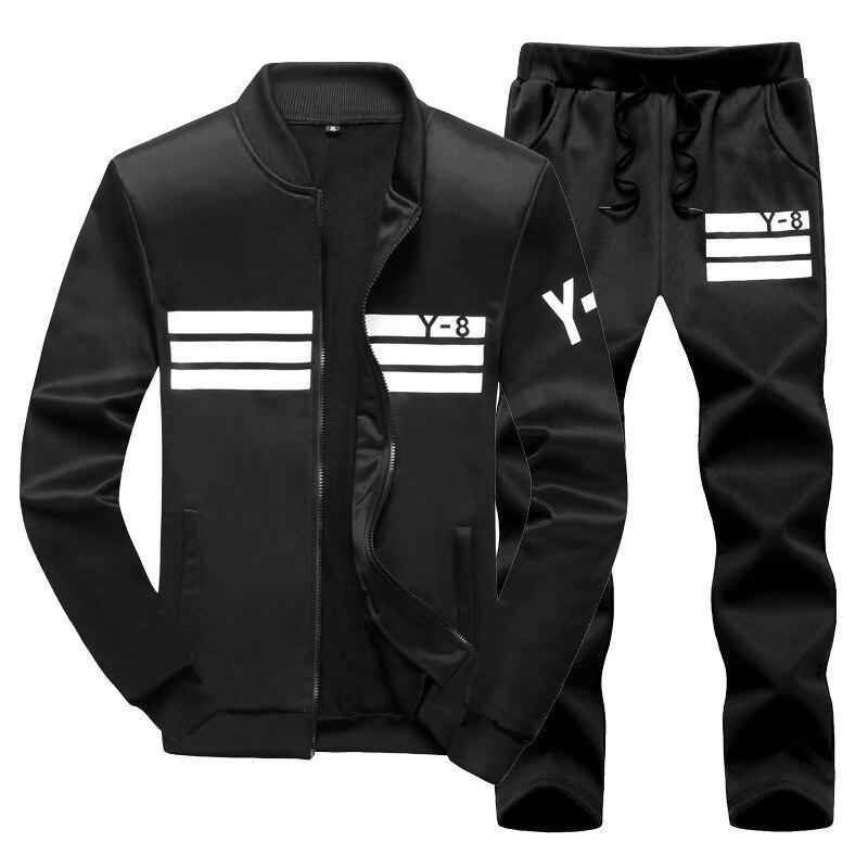 Комплект спортивной одежды для мужчин, Свитшот и штаны для бега, фитнеса, комплект одежды для спортзала, размер 9XL