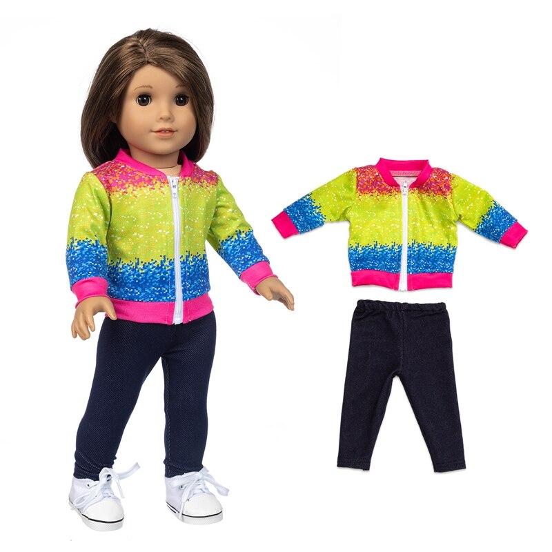 2021 подходит 18 дюймов для новорожденных куклы одежда аксессуары Цвет контраст One Piece домашняя одежда для малышей подарок на день рождения
