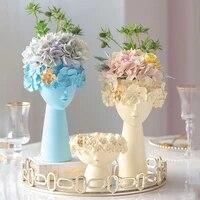 home decore resin vase room decoration sculpture statue flower pot makeup brush holder pen holder desktop crafts ornaments