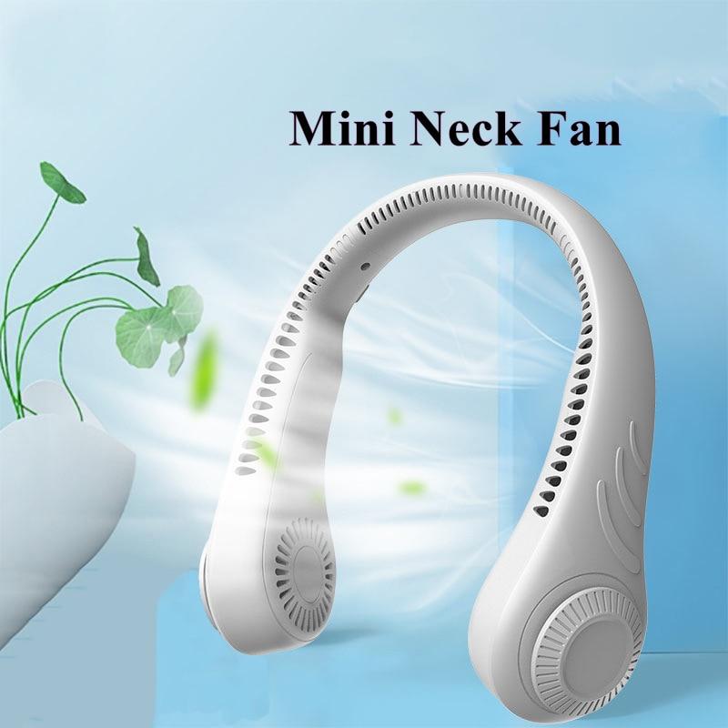 Mini ventilador do pescoço com bateria recarregável de usb, ventilador pessoal de refrigeração do ventilador protable ventilador de ar silencioso 4000mah