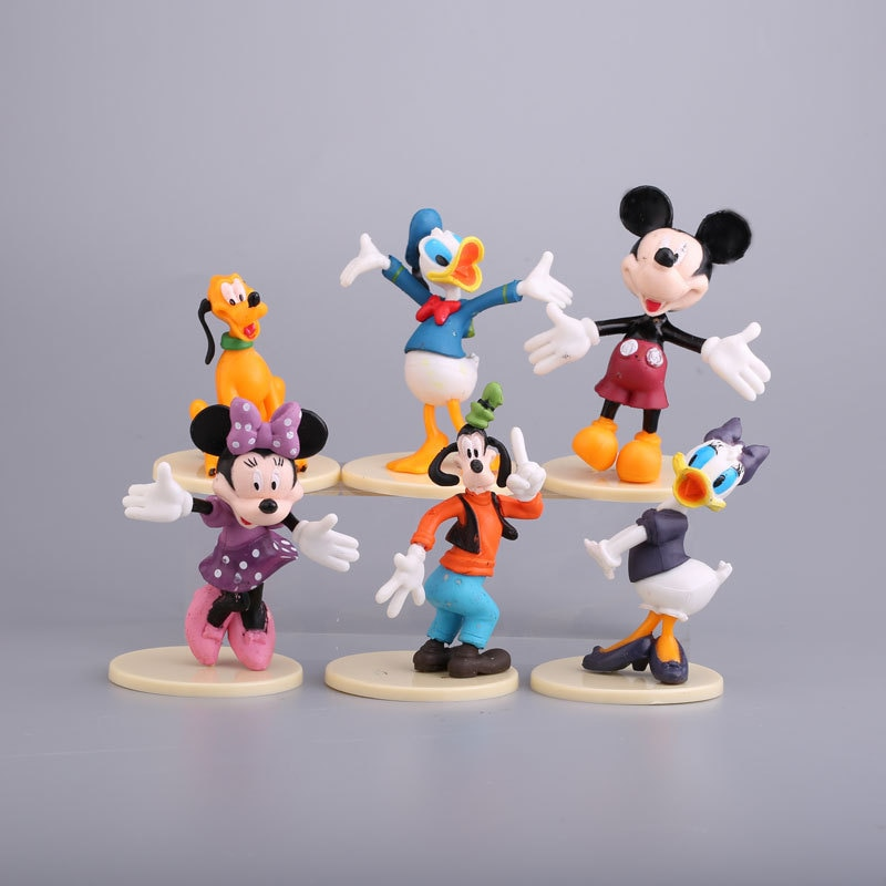Best Selling Disney Car Decoration Mickey Mouse Donald Duck Birthday Baking Decoration Doll Toy Model Mickey Mouse Cake Blind напиток безалкогольный disney mickey mouse с виноградным соком 0 75 л