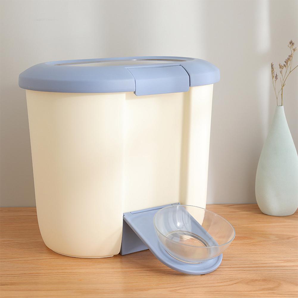 27 * 15 * 30 Cm  10kg Large Capacity Sealed Moistureproof Storage Barrel for Pet Dog Cat Food Grain Pet Feeders Pet Products