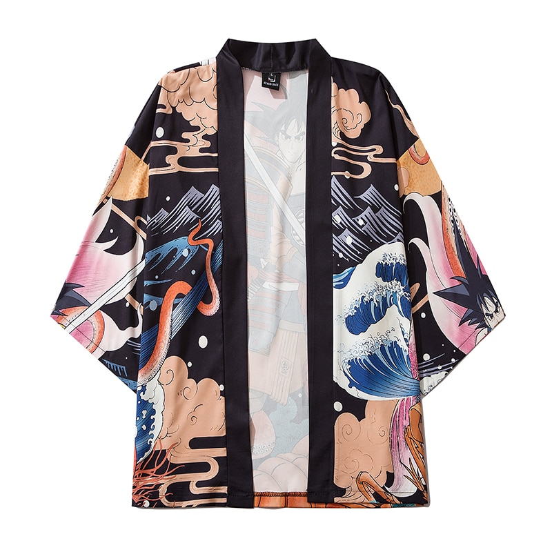 Woman Man Coat Fashion Japanese Summer Cardigan Kimono Yukata Thin Loose Kimono