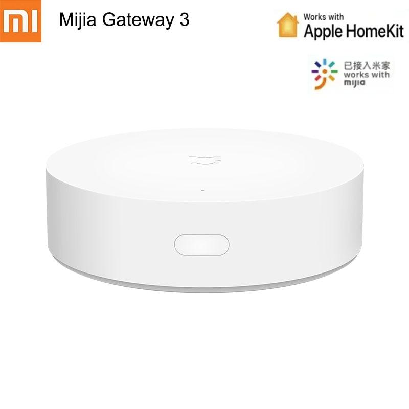 Atualização xiaomi mijia inteligente multi-modo gateway 3 ble zigbee wifi bluetooth malha hub voz controle remoto trabalho com mihome app
