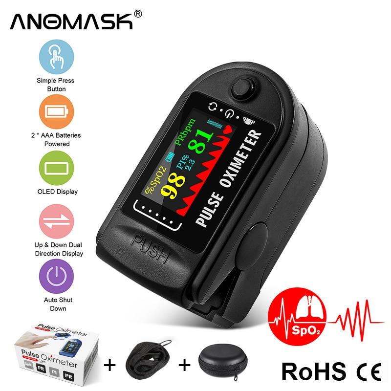 Finger OLED SPO2 PR Monitor health Care Medical Household Digital Fingertip pulse Oximeter Blood Oxygen Saturation Meter + bag