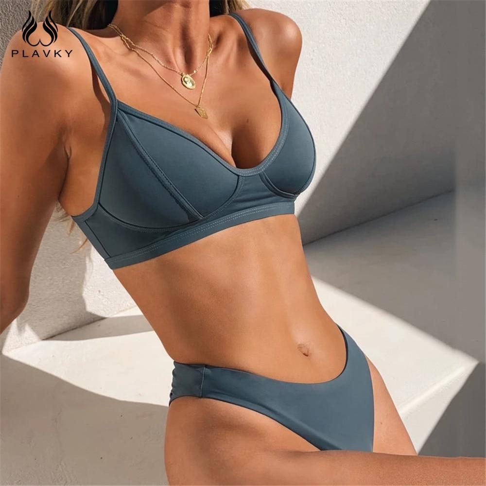 Sexy Solid/Floral/Tie Dye Thong Brazilian Push Up Bikini Set 2021 Swimsuit Women Swimwear Beach Wear Swim Bathing Suit Beachwear