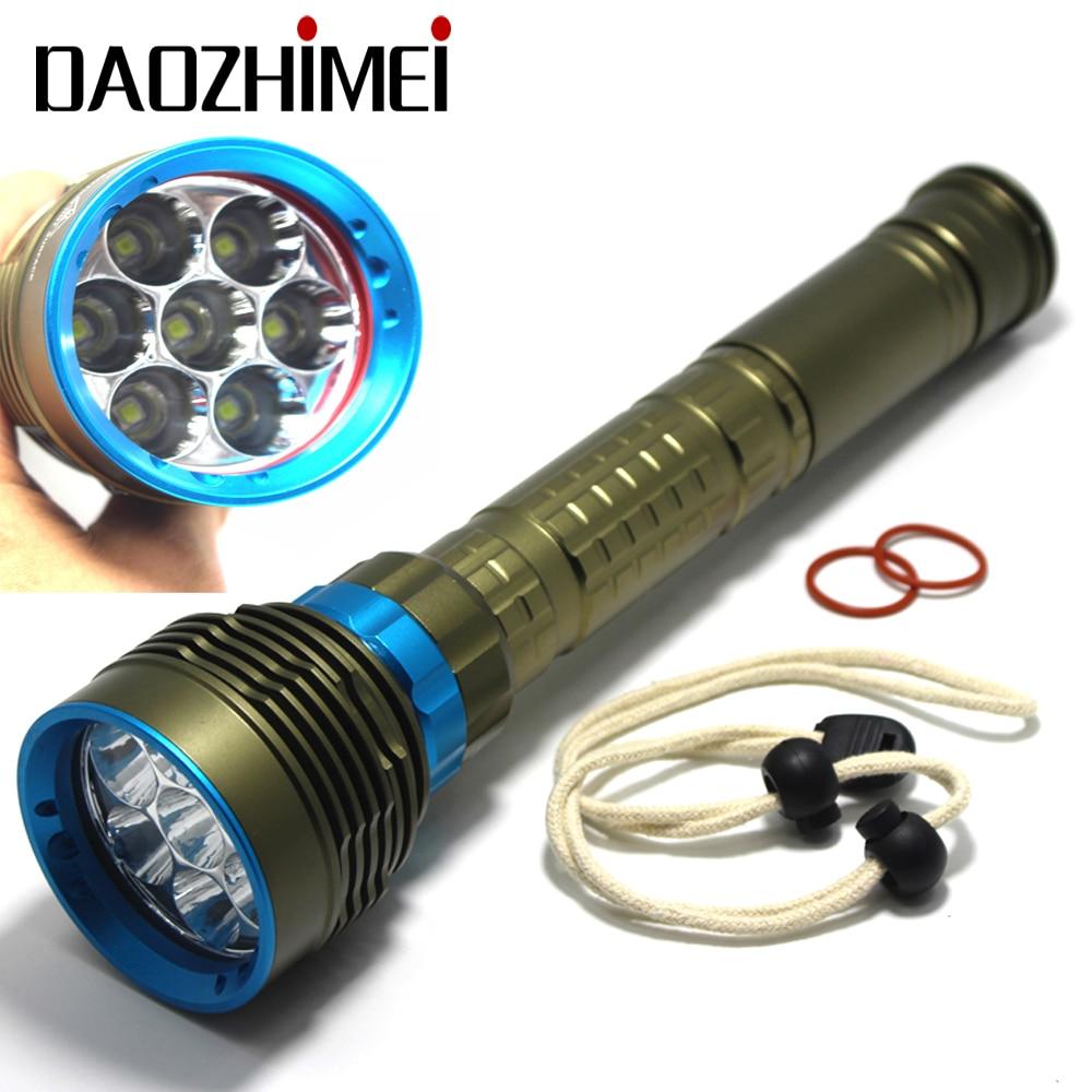 مصباح غوص مقاوم للماء عالي الطاقة 8000LM ، XML T6 L2 ، ضوء تحت الماء ، 3 أوضاع ، 2019 ، جديد لعام 26650