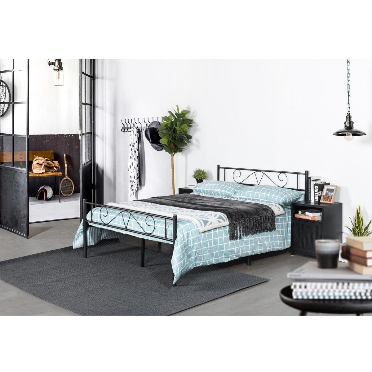 INS-Apartamento de estilo nórdico mediano y pequeño, dormitorio, sala de estar, mobiliario...