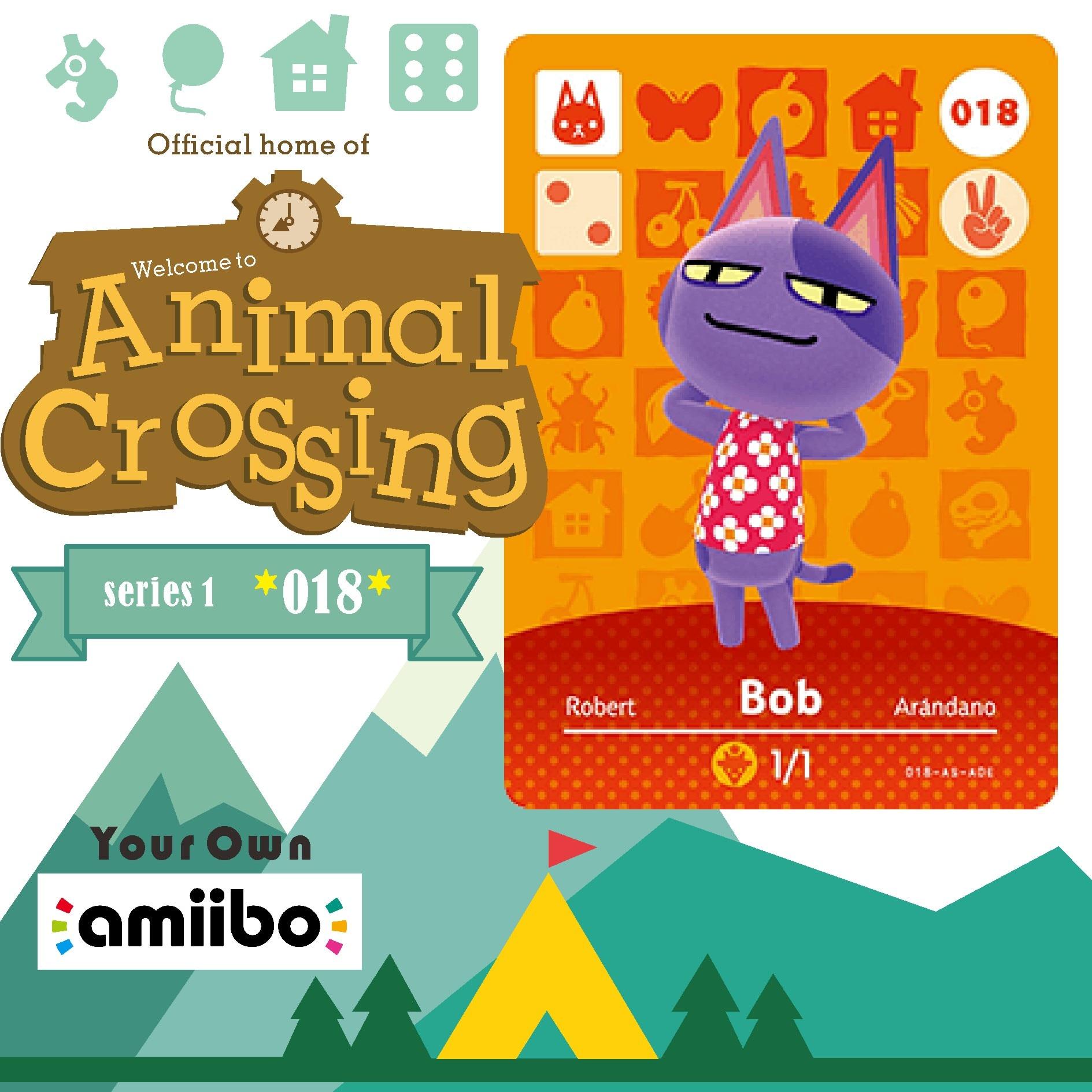 018 Arándano Animal Crossing Cruz tarjeta TARJETA DE Amiibo Animal Crossing tarjeta de juego nuevos horizontes de Animal Crossing Bienvenido Amiibo