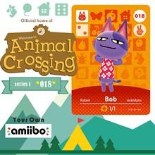 018 Robert animaux croisement croix carte Amiibo carte Amiibo Animal croisement jeu carte nouveaux Horizons Animal croisement bienvenue Amiibo