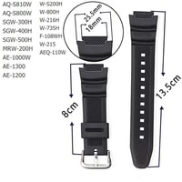 2021 new design 18mm silicone watchband for casio ae 1000w aq s810w sgw 400h sgw 300h replacement