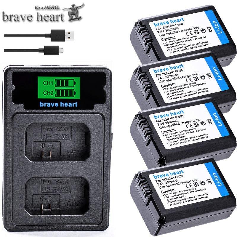 Para Sony NP-FW50 NP FW50 FW50 batería + LCD cargador para Sony...