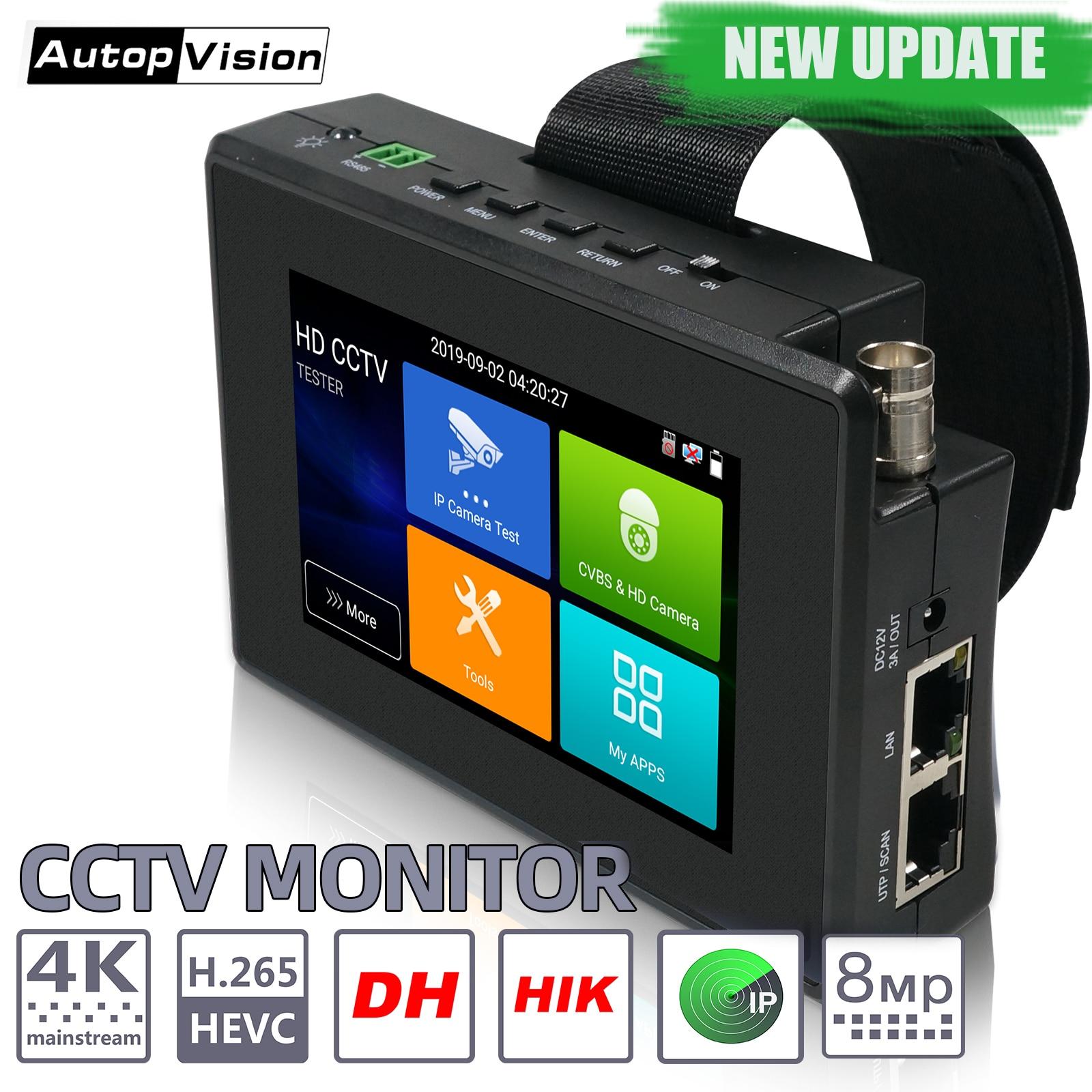 IPC1800plus 1080P 5-en-1 TVI AHD CVI analógico cámara CCTV IP de construir en la batería de seguridad de Monitor de Audio y Video de prueba PTZ