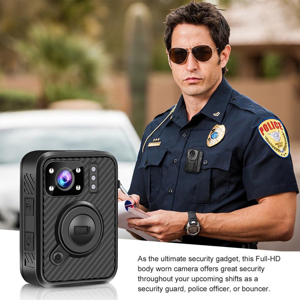 HD 1440P cuerpo desgastado Cámara 64GB WiFi GPS videocámara grabadora de seguridad Mini policía Cam IR noche policía Cámara