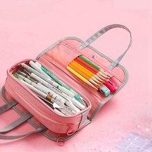Oxford sac à crayons imperméable amovible   Trousse à crayons multifonctionnelle trousse à crayons multi-grilles pour porte-crayon de lécole trousse à cosmétiques trousse de toilette