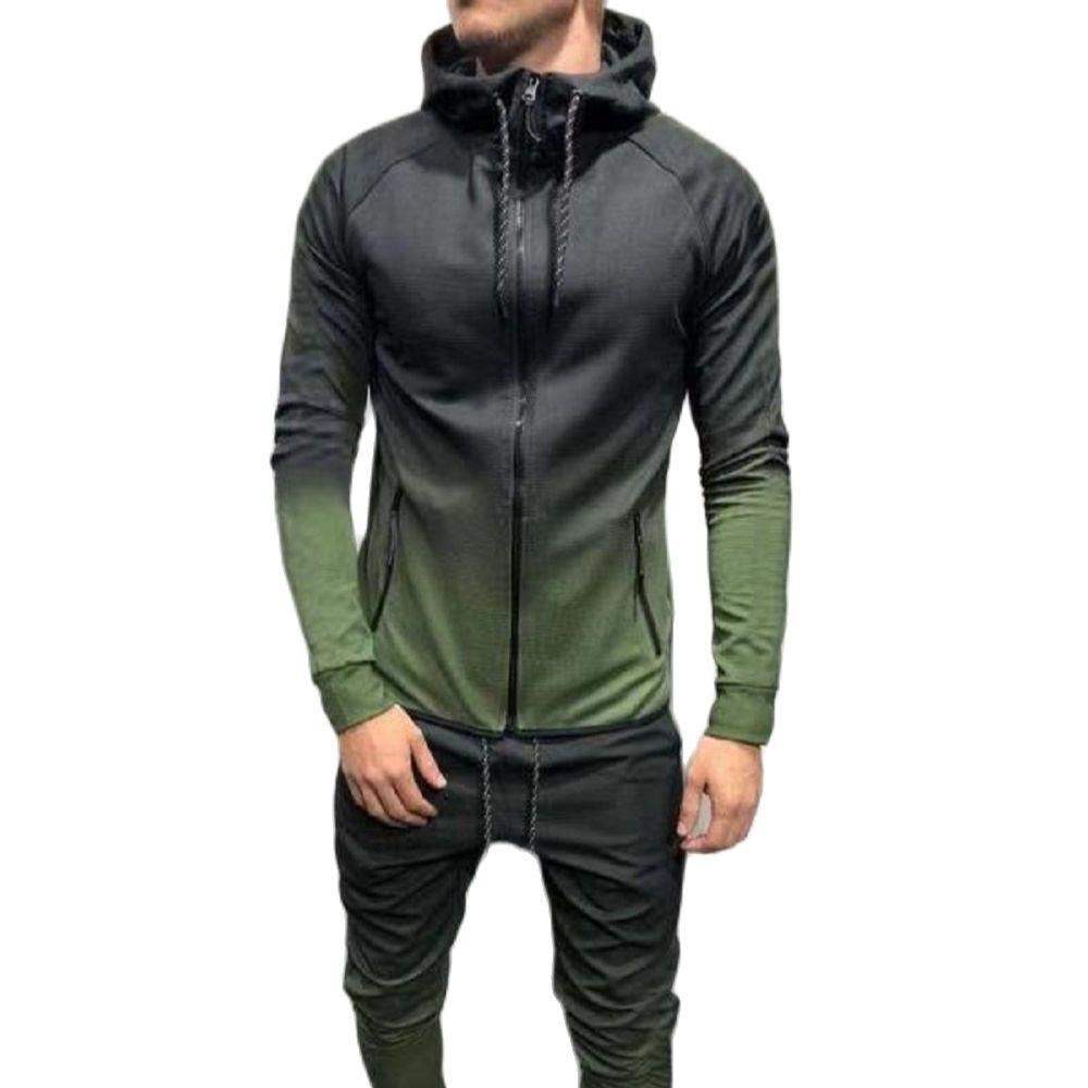 MODX 2021 الخريف جديد ثلاثية الأبعاد التدرج الطباعة سستة الهيب هوب الترفيه الرياضة العضلات الرجال مقنعين دعوى باردة وسيم
