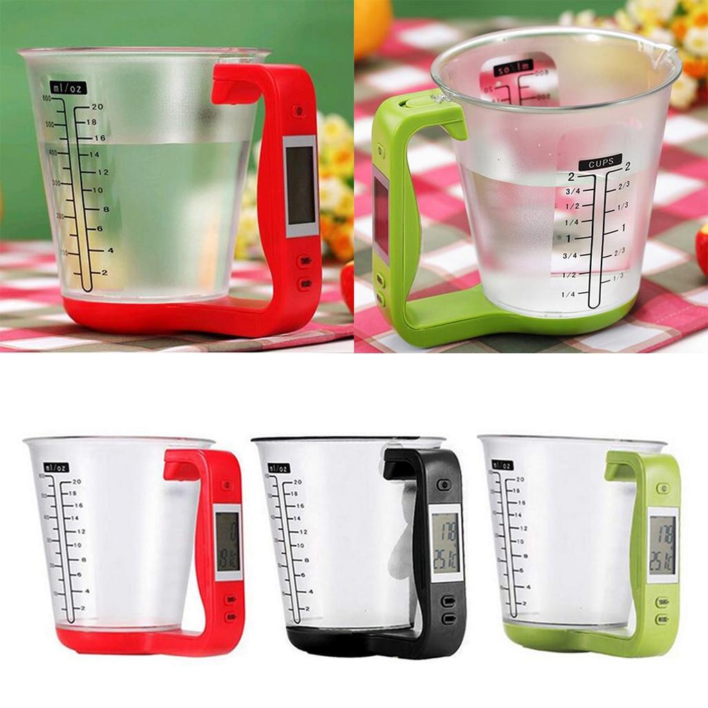 Nueva taza medidora para cocina, balanza electrónica Digital con pantalla Digital, tazas multifuncionales para medir líquidos y alimentos, conjunto de cocina