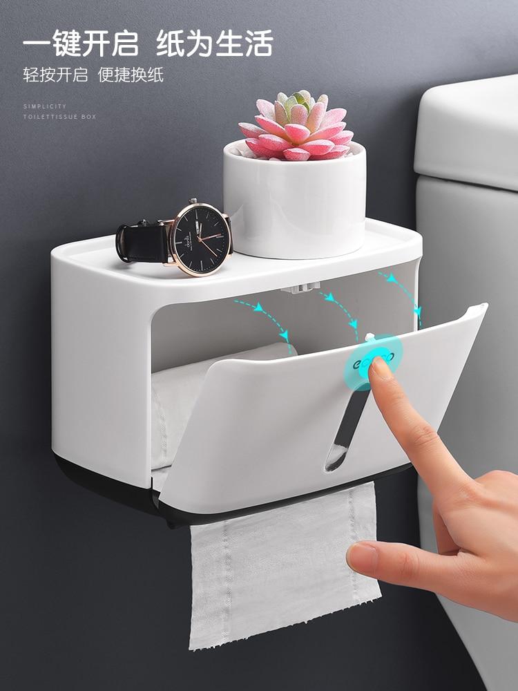 Waterproof Toilet Paper Holders Wall Mount Phone Storage Bathroom toilet paper stand Nordic papier toaletowy Home storage DK50TP enlarge