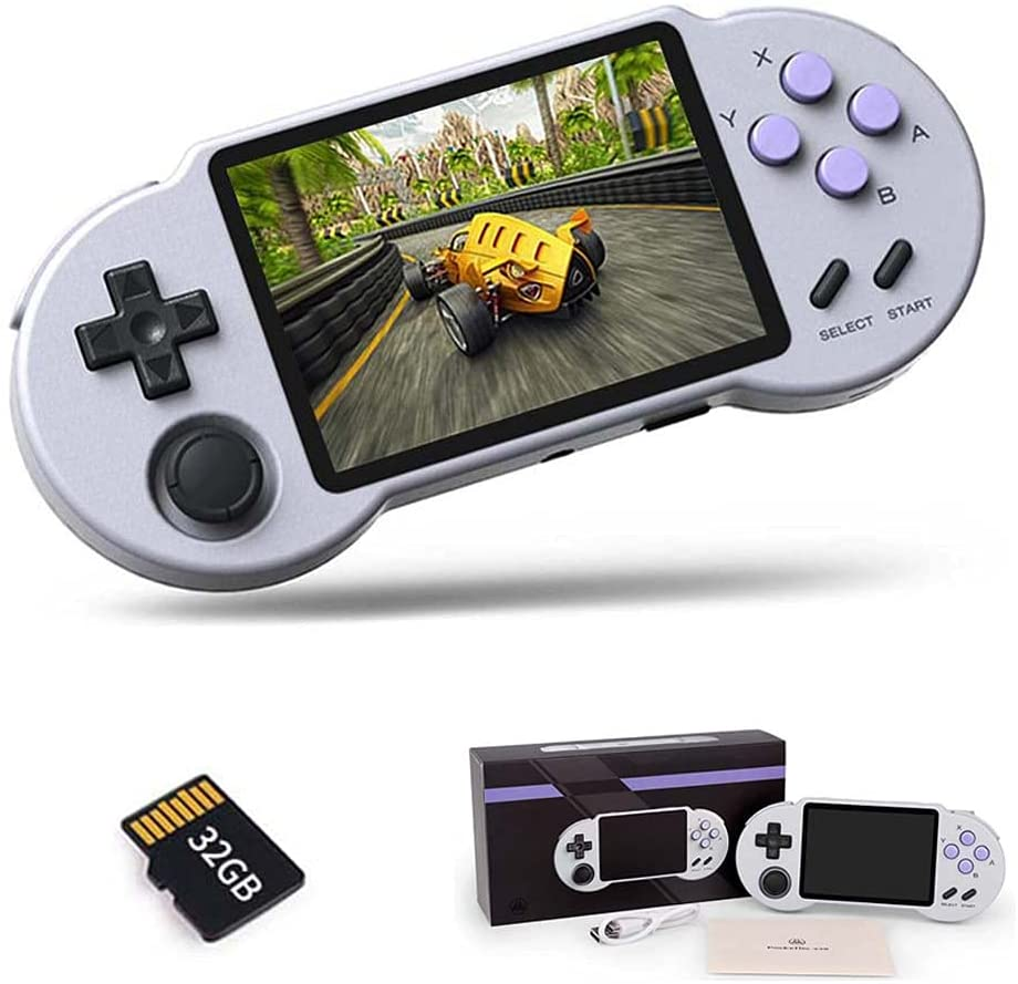 Retro Video Game Console Handheld Game Console With 32/64/128G TF Card 3.5 Inch Screen Games Player For NES/GB/GBC/SNES/SMD PS1