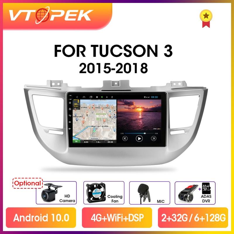 Фото - Vtopek 9 DSP 2din Android 10.0 Car Radio Multimedia Video Player Navigation GPS For Hyundai Tucson/IX35 3 2015-2018 Head Unit vtopek 9 4g wifi dsp 2din android 10 0 car radio multimedia player navigation gps for honda crv cr v 2006 2012 head unit 2 din