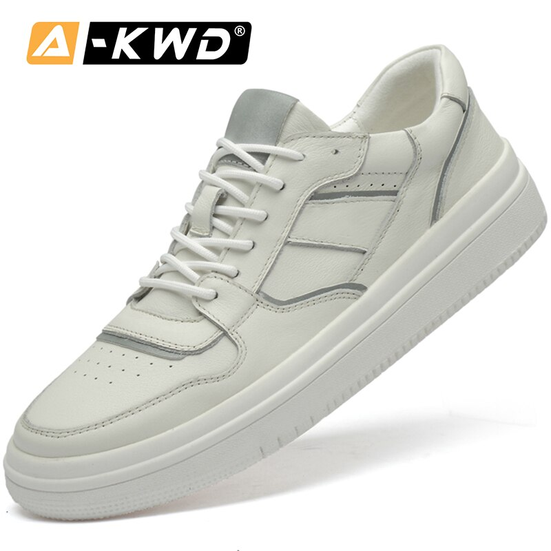 2019 Fashion White Sneakers Mens Autumn Common product Turnschuhe Lightweight Mens Sports Shoes Casual Genuine Leather men shoe
