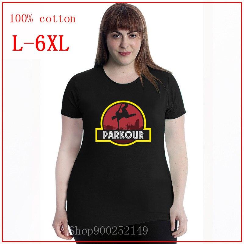 Camisetas divertidas de moda para mujer, camiseta de Parkour, camisetas para mujer, camisetas de Ropa de talla grande para mujer, 4XL, 5XL, 6XL
