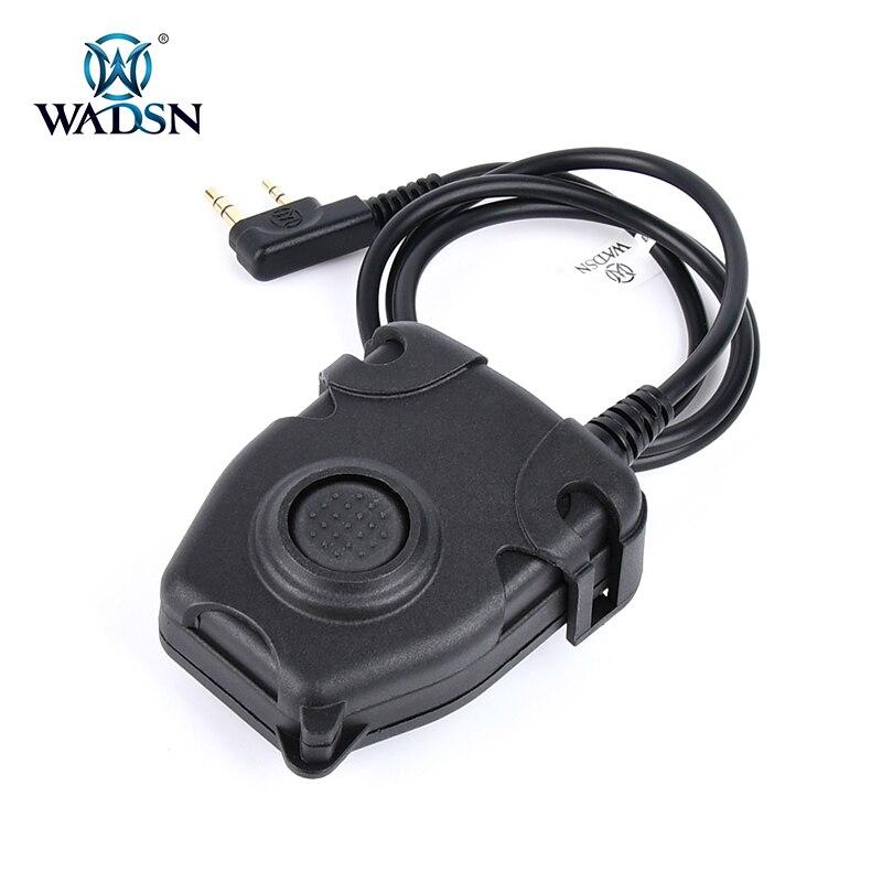 WADSN Peltor PTT kenwood motorola botón táctico auricular walkie talkie, interfono linker...