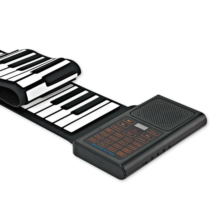 Hand Roll Portable Piano ,61 Keys Foldable Pian, Keyboard Instrument , With Stereo Speaker MIDI Bluetooth Rechargeable Styl enlarge